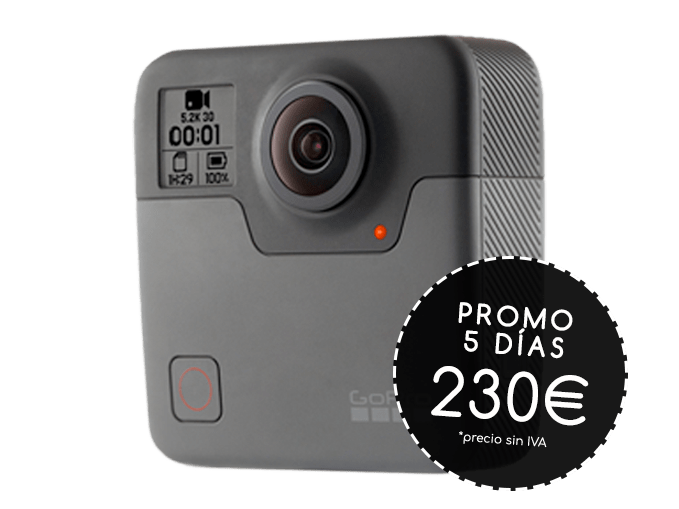 alquiler cámara 360 GOPRO OMNI